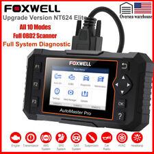 All System Scanner OBD2 Code Reader Diagnostic EPB Oil Reset Foxwell NT624 Elite