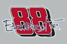 "Dale Earnhardt Jr Graphic Vinyl Decal #88 NASCAR Bumper Sticker 3.5"" X 7"""