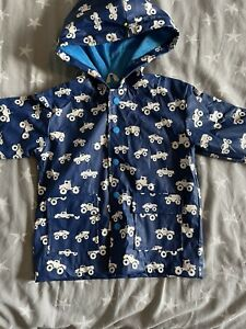 HATLEY MONSTER TRUCK COLOUR CHANGING BLUE JACKET SIZE 2 YEARS