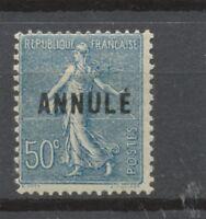 Cours d'instruction - Semeuse lignée N°161-CI 2, 50c bleu NEUF* COTE 77€ P1347