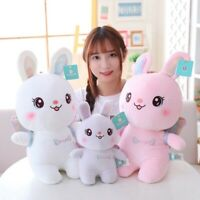 Cute Angel Rabbit Plush Toy Stuffed Soft Animal Bunny with Wings Doll Baby Kids