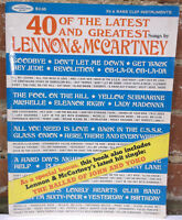40 of the Latest & Greatest Songs by Lennon & McCartney Beatles Sheet Music Book