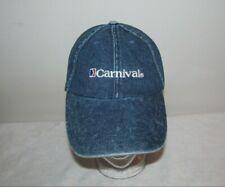 vintage CARNIVAL CRUISE LINE denim jean blue FUN SHIPS sport ball hat cap golf