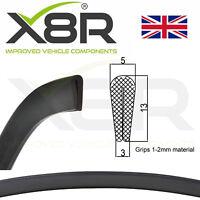 Medium Deep Black Rubber U Channel Edging Trim Seal Car Protection Door Bumper