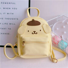 Women Girl's Cute Pompompurin Backpack Small Leather Shoulder Crossbody Bag