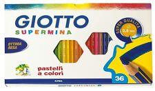 Colori Scuola Pastelli GIOTTO SUPERMINA Matite Colorate 3,8 MM Confezione da 36