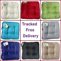 LUXURY SEAT CUSHIONS Square Chair Pads With Ties For Garden Kitchen Dining A +++