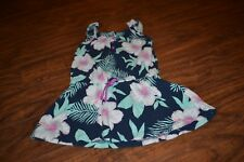 B36- Carter's Floral Print Top/Tunic Size 7