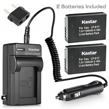 Kastar LP-E17 Battery + Charger For Canon EOS Rebel T6i T6s T7i SL2 EOS M3 M5 M6