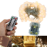 RGB Strip Lights IP65 Waterproof 10M 100LED IR Remote Controller Battery Powered