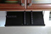 Drop Block Under Cabinet Knife Storage Rack - Large, Black