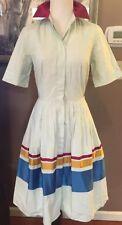 SOPHIE THEALLET  for THE LIMITED Color Block Pale Mint Poplin Shirt Dress sz 0