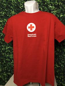 Original American Red Cross Red Tee Men's Large Size