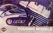 2016 Harley-Davidson Touring Models Owners Manual -Flhr Flhx Flhtk Flhtcu