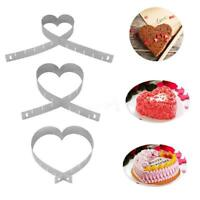 Adjustable DIY Cake Pan Pastry Mould  Heart Square Shape Kitchen Baking Tool LL