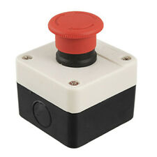 Red Sign Mushroom Emergency Stop Push Button Switch Station 1 NC AD