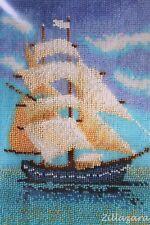 Segelboot Stickpackung Stickset Kreative Handarbeit Bild sticken Perlen 338