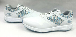 Skechers Ladies Go Golf Max - Draw Spikeless Golf Shoes - White/Blue Size 9.5