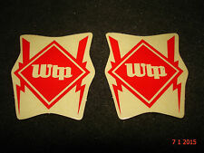 2 AUTHENTIC SMALL WETHEPEOPLE BMX BICYCLES RED STICKERS #73 DECALS AUFKLEBER