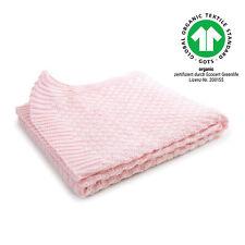 Baby-Decke Kuscheldecke Schmusedecke Babydecke Karo Bio Baumwolle 80x80 cm rosa