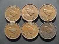 6 x George VI Farthings 1946,