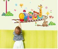 Happy Cartoon Train Kid Room Decor Removable Decals Vinyl AU Mural Wall Sticker