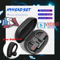US Bluetooth 5.0 Headset TWS Wireless Earphones Mini Earbuds Stereo Headphones