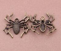 5pc Retro Bronze(spider pendant)Bead Charms Accessories wholesale PT2194