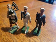 2 Vintage CRESCENT LEAD Sailer FIGUREs SOLDIERS + england