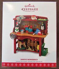 Hallmark Keepsake 2017 Ornament Club Santa's Workbench Ornament NIB SHIPS FREE!