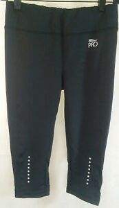 Crivit Pro Womens small black running capri EUC
