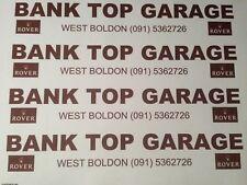 Bank Top Garage Rover West Boldon Dealer Sticker Montego Metro Mini MGF MGZR etc