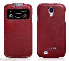Icarer originale CASE per Samsung Galaxy S4 GT-i9500 pelle vera custodia COVER