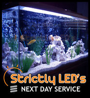 Blue LED Tube Bar Aquarium Fish Tank Lighting Strip Lights Submersible 50cm UK