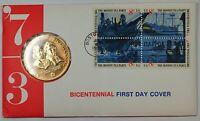 Sam Adams and Patrick Henry American Revolution Bicentennial Medal, In Envelope