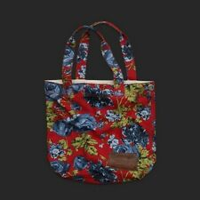 NIB New Abercrombie & Fitch Classic Tote Bag Red Floral