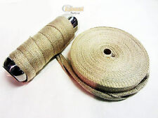 Exhaust Heat Wrap Downpipe High Temp Insulating  Manifold 10 Meters
