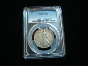 1921-S Liberty Walking Silver Half Dollar PCGS Graded F12