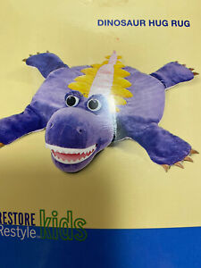 Restore & Restyle Dinosaur Stuffed Plush Rug Blanket Play Mat Bed Pillow