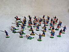 HEINRICHSEN + ALLGEYER - Plats d'étain - Zinnfiguren : 45 soldats français 1870