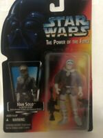 Star Wars Han Solo Hoth Gear Red Card Power of the Force  1995 in hand ships FAS