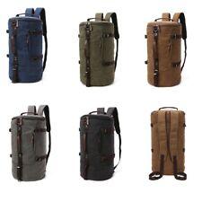 Men Barrel Duffel Gym Bag Travel Sports Gym Shoulder bag Handbag Backpack canvas