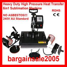 6in1 Integrated T-shirt Mug Hat Plate HeavyDuty High Pressure Heat Press Machine