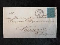 Altdeutschland Sachsen 1855 - MiNr. 10  Brief Leipzig , geprüft Rismondo BPP