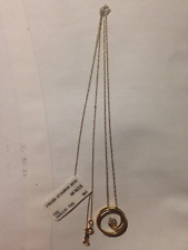 10K YELLOW GOLD DIAMOND PENDANT ON 10K YELLOW GOLD CHAIN~~BRAND NEW~WITH TAGS~~