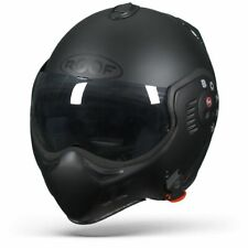 ROOF BOXER V8 FULL BLACK, Flip Up Motorcycle Helmet - Free Shipping - New