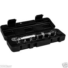 1M-Part 7pc Torque Wrench ideal for Bicycle Assembly (3 to 15 Nm Range)