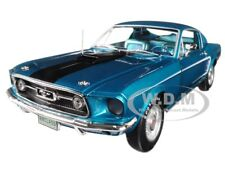 1968 FORD MUSTANG GT 2+2 BLUE CLASS OF '68 LTD 1/18 DIECAST BY AUTOWORLD AMM1132