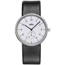 New Braun BN0024WHBKG Men's Classic Analog Display Quartz Watch, Round 38mm Case