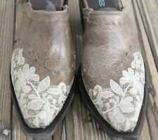 Lane Boots Jeni Lace Women's Western Cowgirl Mule Size 7.5